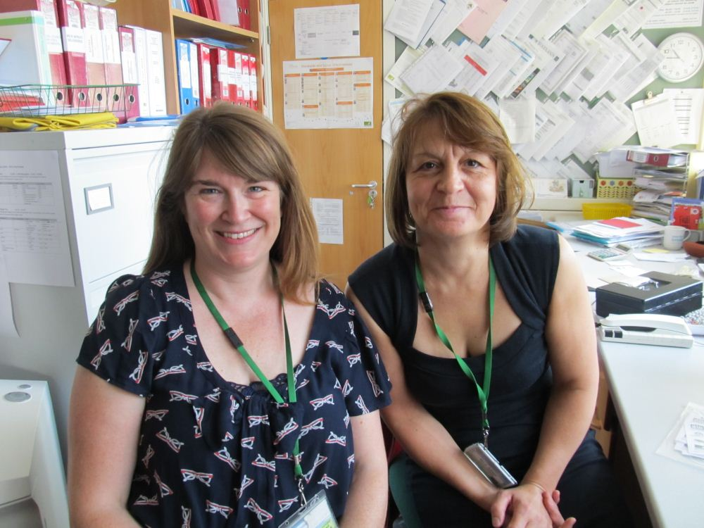L-R Miss Devereux and Mrs Byfield
