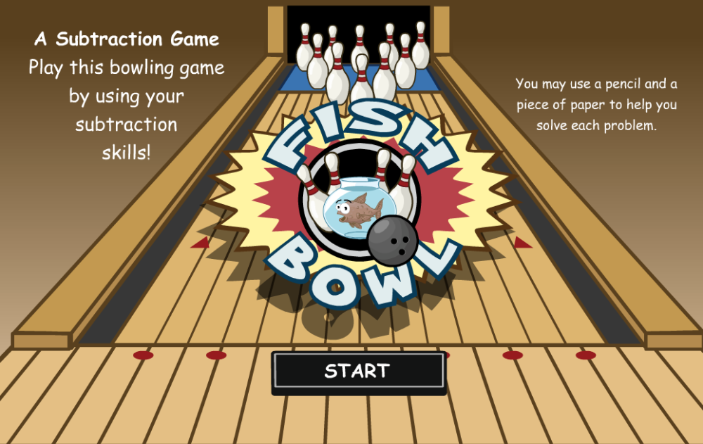 Play this bowling game by using your subtraction skills.