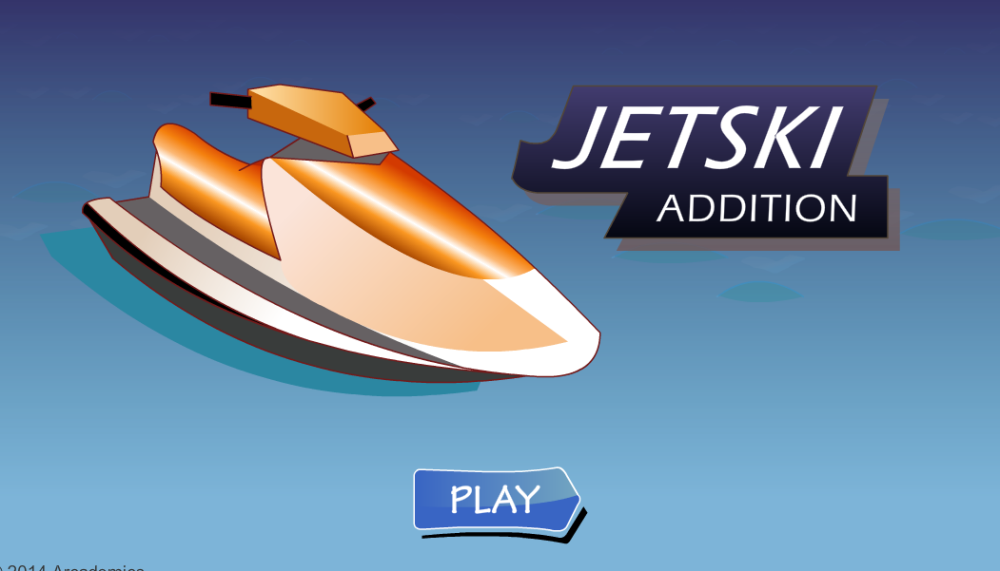 Race the jetski whilst practising mental addition!